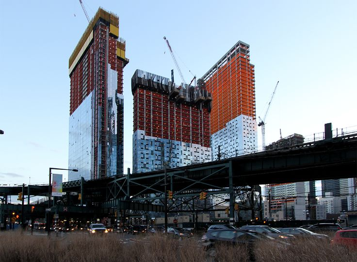 View of Tishman's Queens Plaza towers as of last weekend; CityRealty