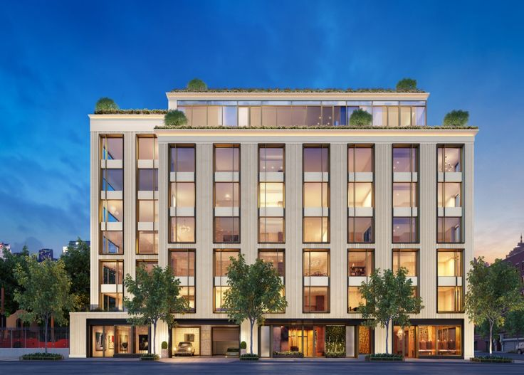 75 Kenmare Street Elevation; Renderings courtesy of DHA Capital | Andre Kikoski | Kravitz Design