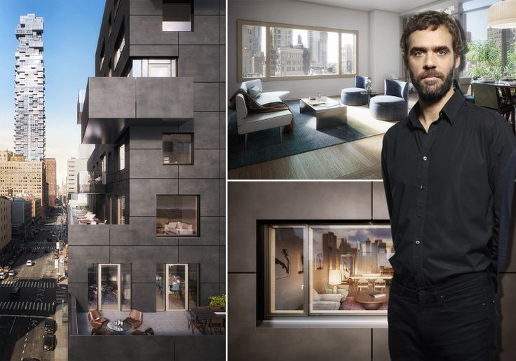 Architect Francois Leininger and images of 30 Warren Street in Tribeca