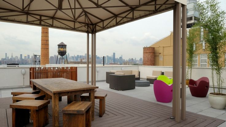 Terrace, 125 North 10 Street, Condo, Manhattan, NYC