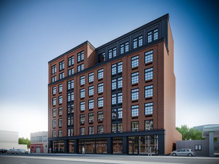 Leasing has launched at a mixed-use building with 50 rental units at 1007 Atlantic Avenue in Clinton Hill, Brooklyn. (Image via JM Zoning)