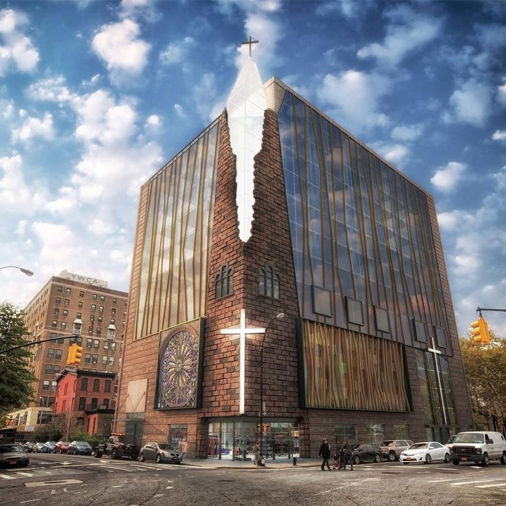 GWA Architects' feaibility study design for the redevelopment of the Baptist Temple Sanctuary in Boerum Hill (GHW Architects)