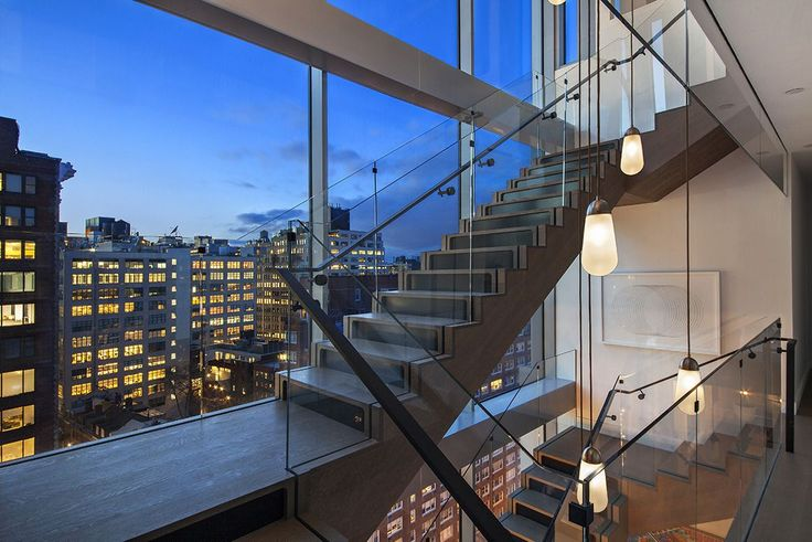 The 30-Foot-Tall Glass Wall Featured in One Vandam's Triplex Penthouse