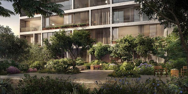 Jardim's landscaped courtyard; VUW Studio
