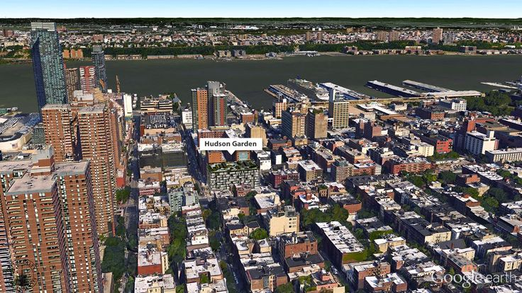 Aerial Google Earth View of the Hudson Garden development