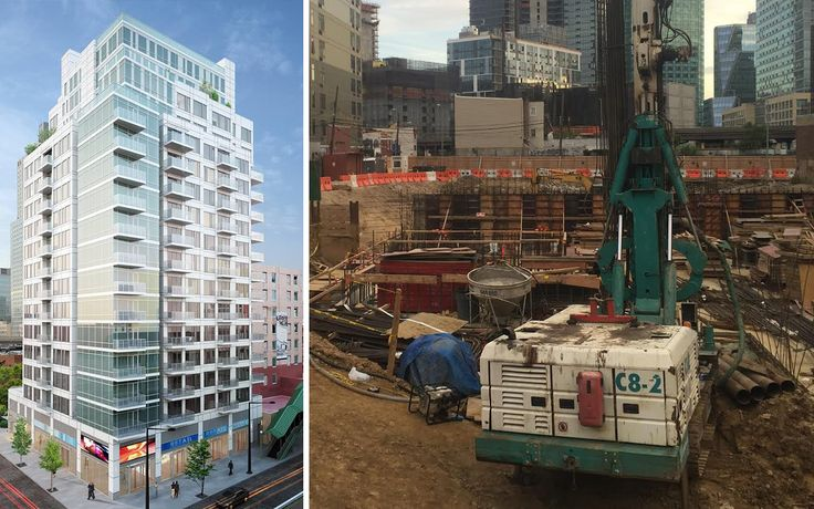 Construction has begun at One Queens Plaza, which will soon rise 18 stories and feature 110 residential units.