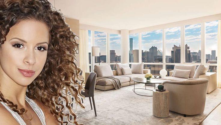 Lexi Lawson and Manhattan View living room (Images courtesy of IMDB, SCG America, Kuafu Properties)