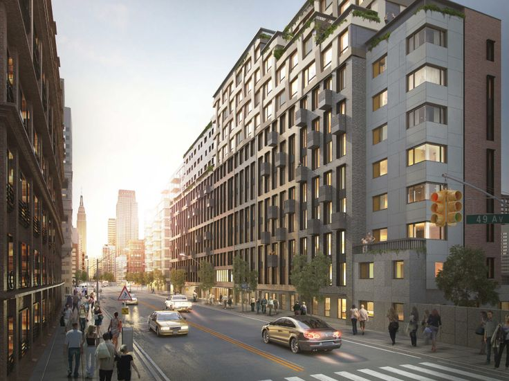 11-39 49th Avenue is an 80/20 rental; Criterion Group / Aufgang Architects
