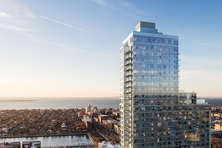 Rendering of 1 Brooklyn Bay. Residences will start at the 20th floor; Muss Development