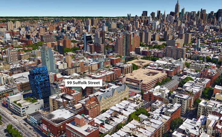 Google Earth view of 99 Suffolk Street on the Lower East Side.