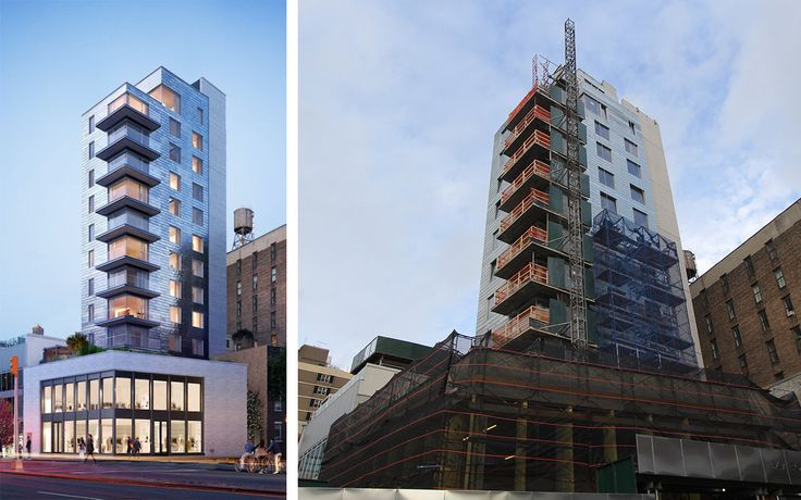 347 Bowery is now receiving its shiny zinc skin.