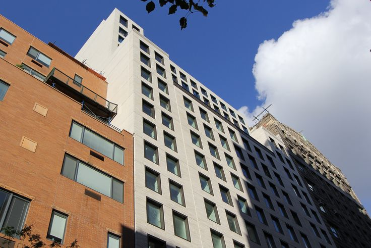 Finished facade of 55 West 17th Street; CityRealty