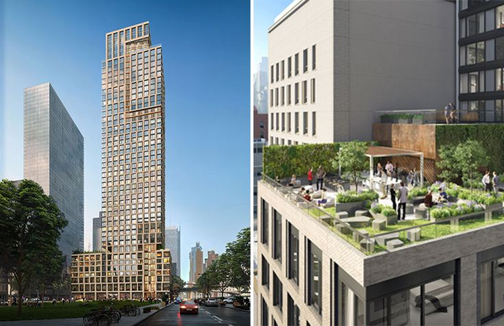 Rendering of 550 Tenth Avenue credit of Gotham Organization and Handel Architects
