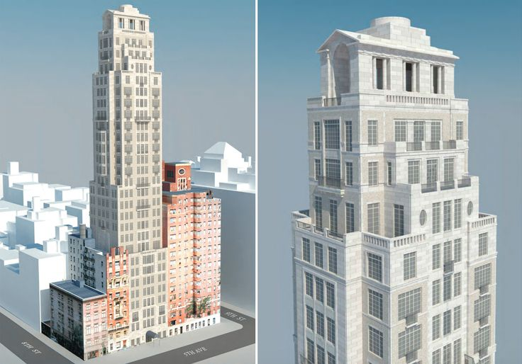 Rendering of 14 Fifth Avenue (Robert A.M. Stern Architects)