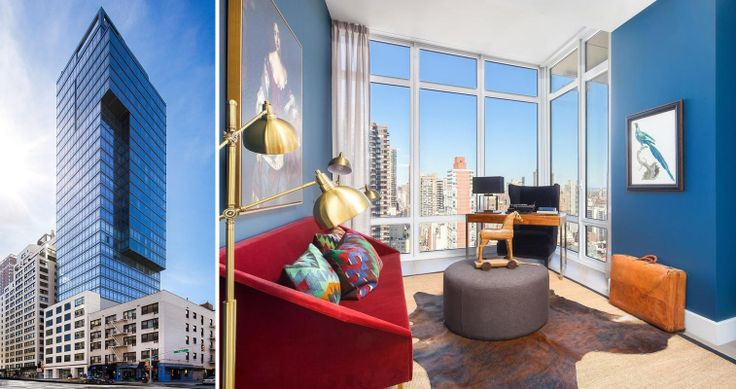 There are just three listings currently available in the Ismael Leyva-designed condo (All images via Douglas Elliman)
