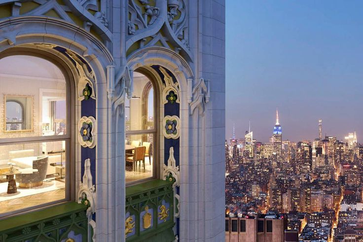 Details and views of Woolworth Tower Residence via Sotheby's