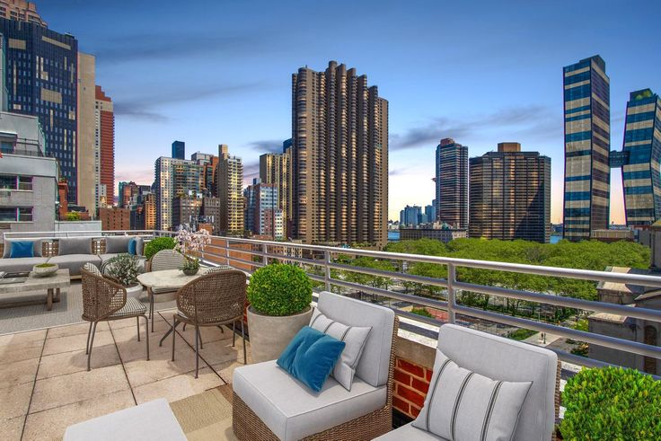 Private terrace at The Murray Hill via Halstead