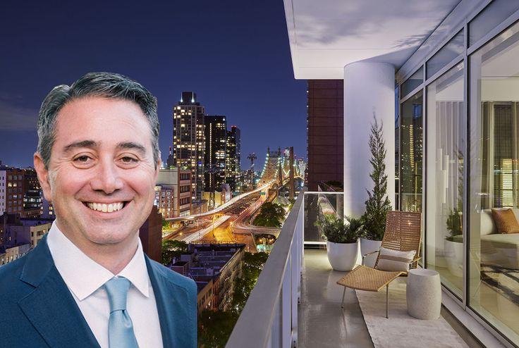 John Tashjian and terrace at 200 East 59th Street (via M18 / CetraRuddy)