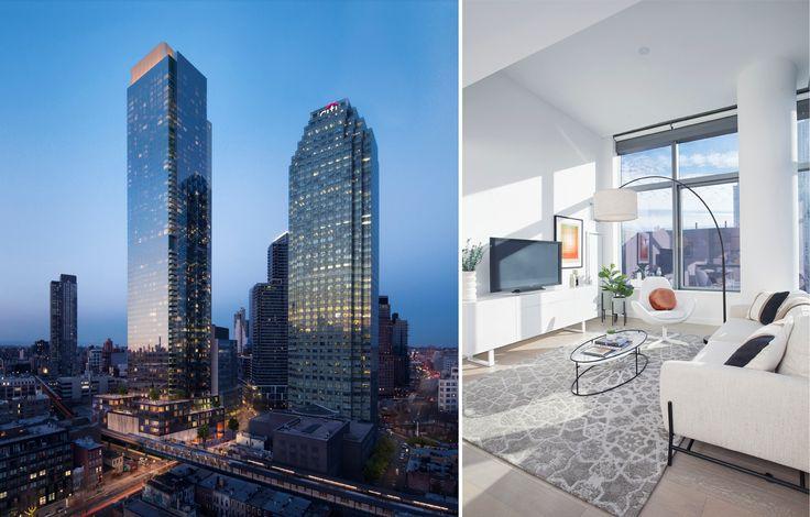 Skyline Tower has racked up more than $500 million in sales so far (Rendering credit: Binyan Studios; Model home photography credit of Jesper Norgaard )