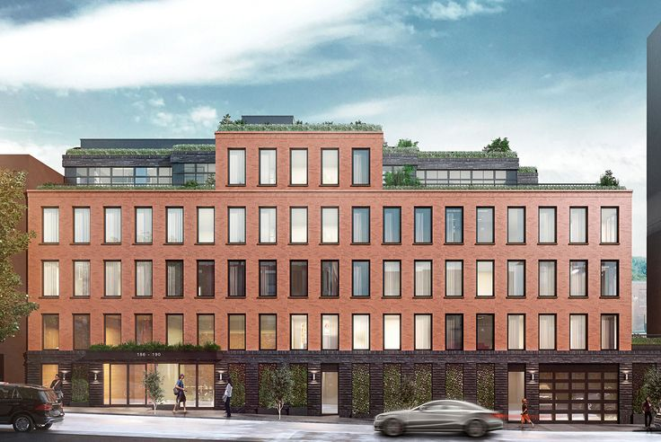 186-190 21st Street will house 26 condo-sized apartments. Rendering via Issac & Stern Architects