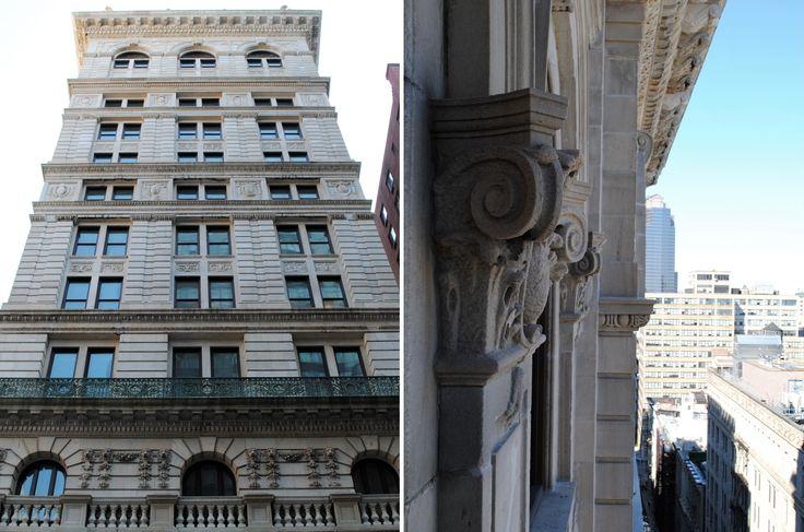The restored facade of 108 Leonard Street in Tribeca (Credit: Cari Nogas, Hundred Stories PR)