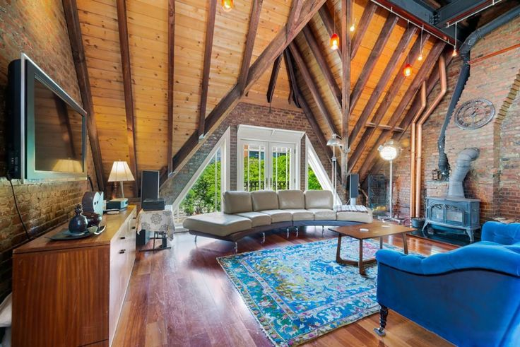 Swiss chalet-style penthouse at 316 East 59th Street
