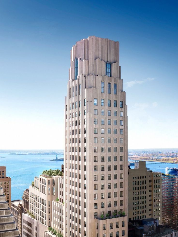 New rendering of One Wall Street and its annex from the northeastvia CORE Real Estate