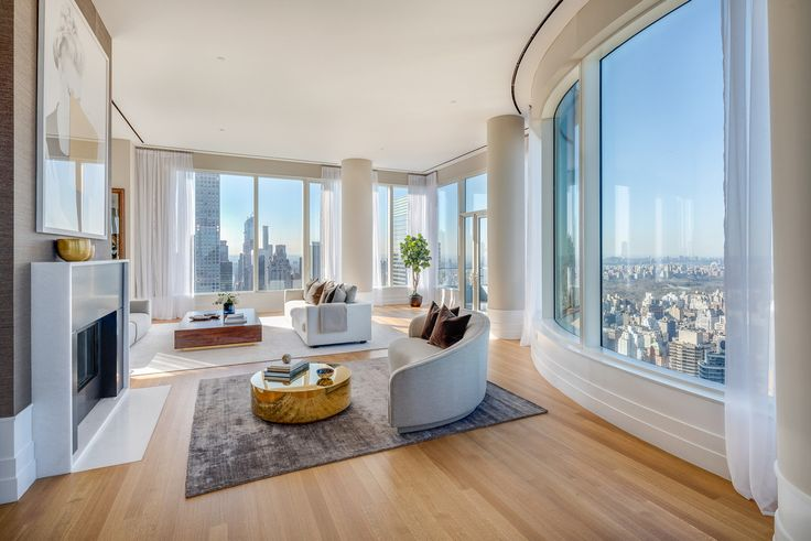 The 65th-floor penthouse is located a few flights up from Steve Madden's unit. Listing and images courtesy of Stribling & Associates