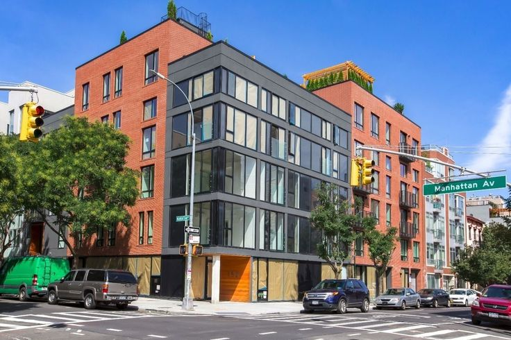 Nearly-finished exterior of 152 Manhattan Avenue (Photos via Brooklyn Group)
