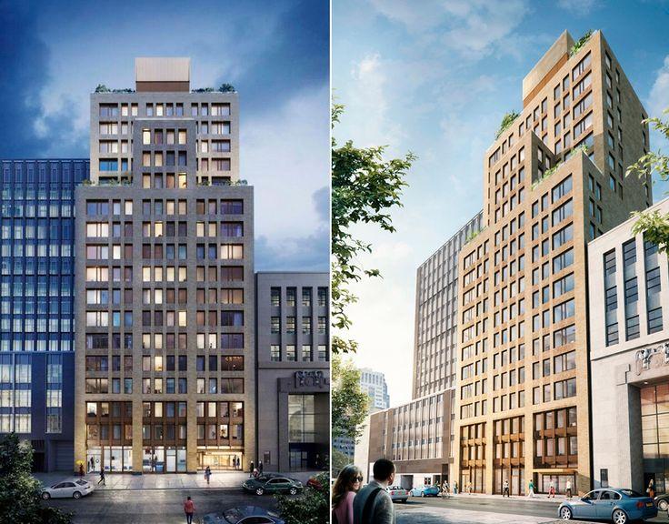 Renderings of Montague Pierrepont Apartments (R to L: 146 Pierrepont, 189 Montague)  Renderings via Marvel Architects/ Jonathan Rose Companies)