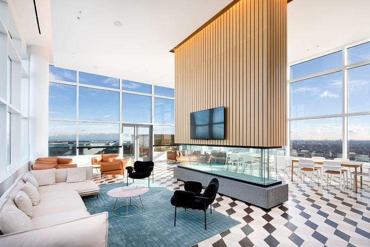 ALTA LIC has a custom-designed fireplace as a centerpiece of its sky lounge (altalic.com)