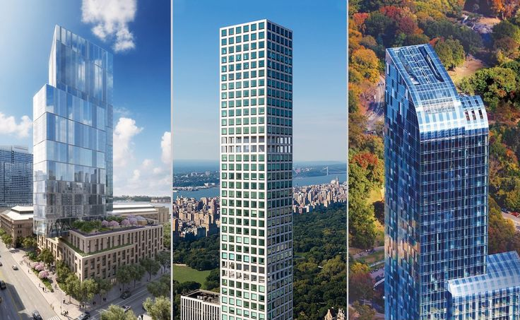 L to R: One West End, 432 Park Avenue, One57