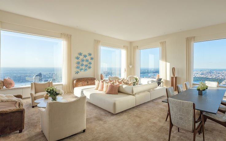 The 86th floor penthouse model is designed by internationally acclaimed interior designer Robert Couturier. Image by DBOX.