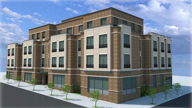 Rendering of 40-05 Crescent Street at the corner of 40th Avenue