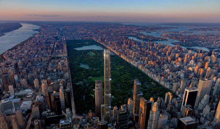 Rendering of Central Park Tower via CityRealty