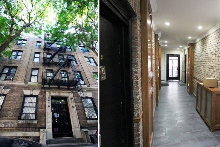 Exterior (l). Entryway (r); Bold New York