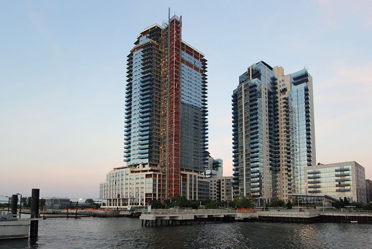 The Edge III, situated on the Williamsburg waterfront, is in the midst of receiving an all-glass facade.