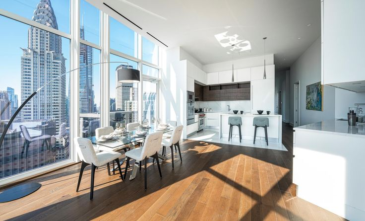 Interior of Summit New York, #ResC available for $30K/month + one month free rent (via Douglas Elliman)