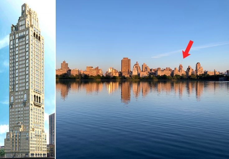 200 East 83rd Street and its topped-out frame from Central Park in June 2021