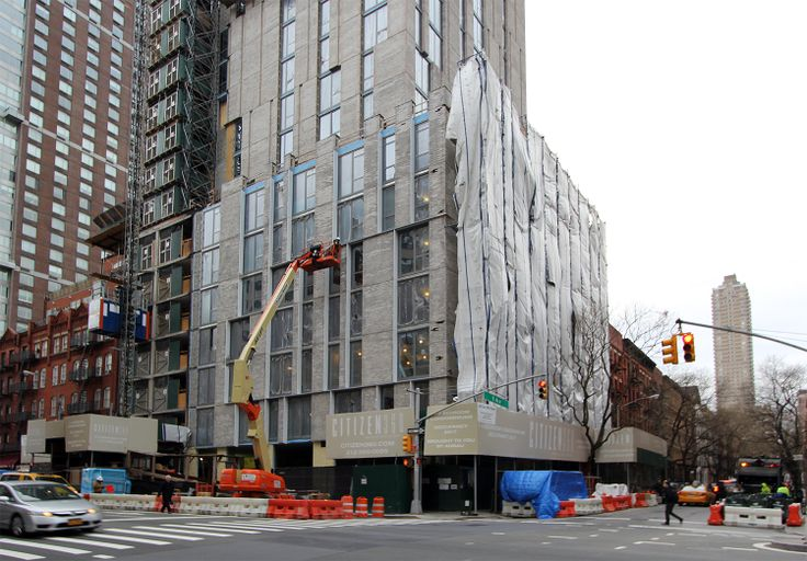 Cladding going up on Citizen360; CityRealty