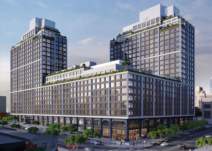 Front and York exterior rendering (Williams New York)