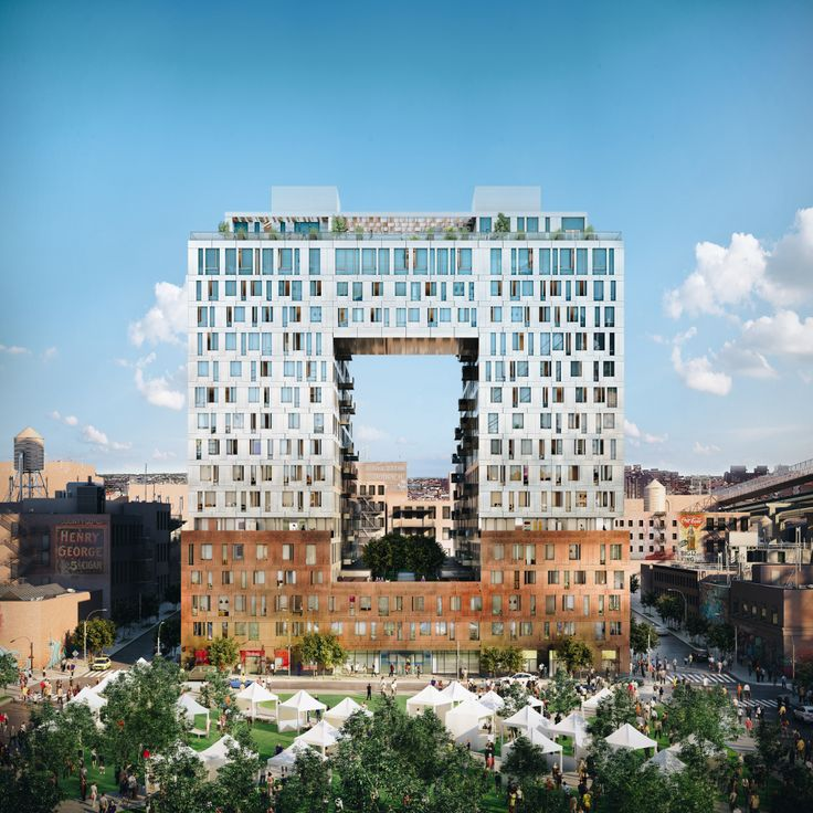 325 Kent Avenue is part of the 11-acre redevelopment at the former site of the Domino Sugar Factory. (Image via Two Trees)