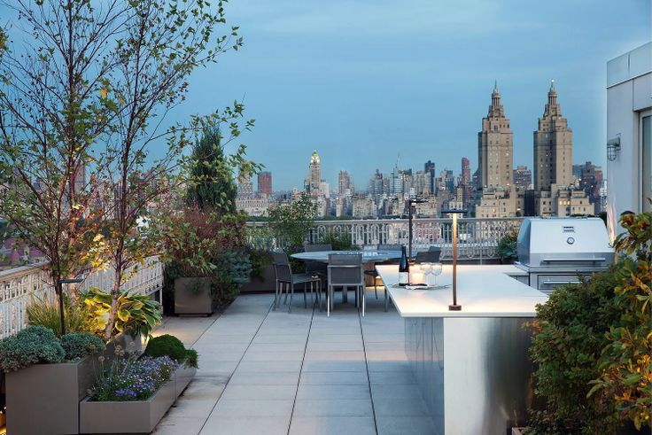 View from the terrace at the the Laureate, PH1A via Douglas Elliman