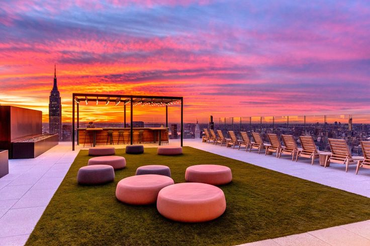 Rooftop terrace at The Eugene via Max Touhey
