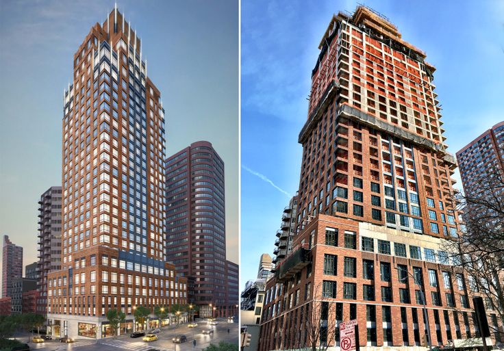 Rendering of the Kent/ Construction progress as of  2nd week of January 2017; Rendering Credit: Extell Marketing Group