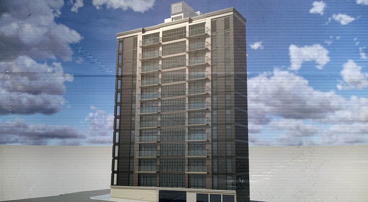Rendering of 167 Willoughby Street posted at the site