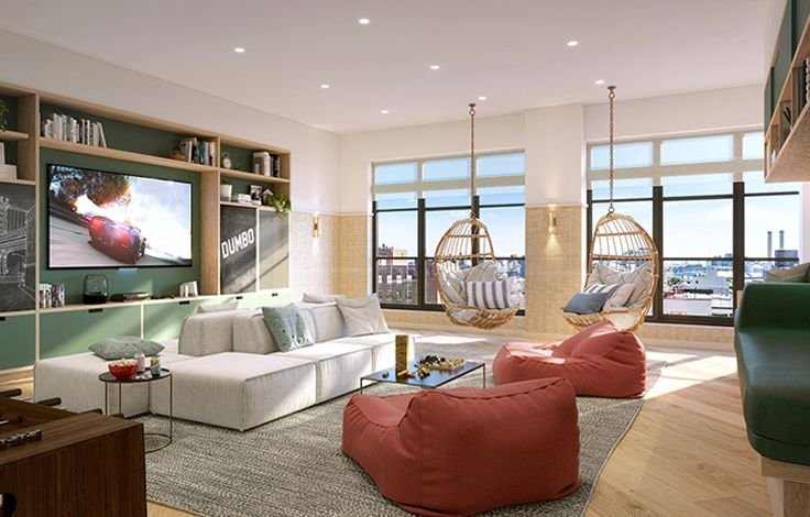 Front & York  - Interior View - Living Room 2