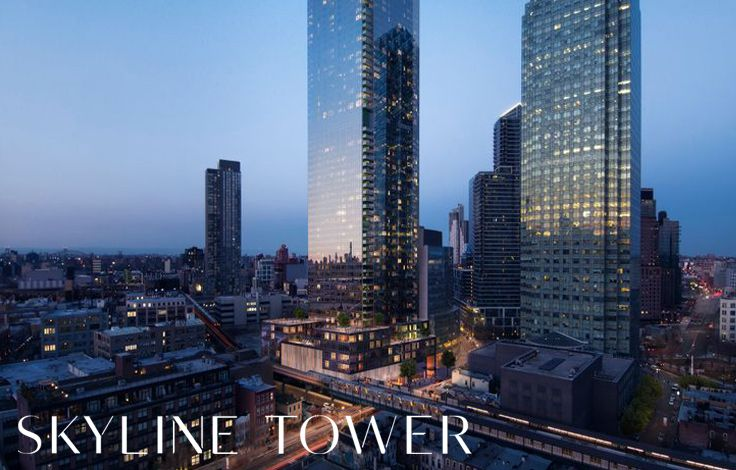 Skyline Tower - View of the Building with Skyline at Night