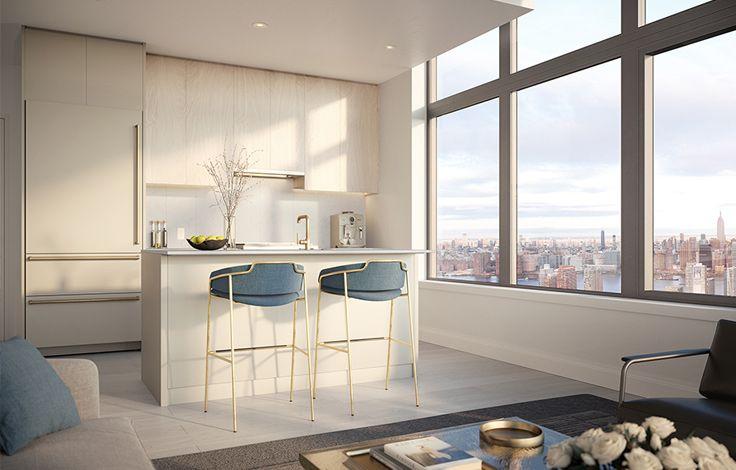 Skyline Tower - Unit Kitchen Rendering