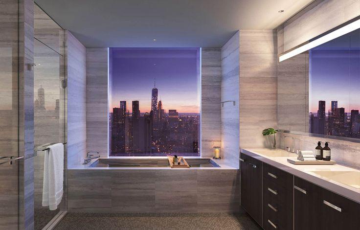 One Manhattan Square - Interior - Bthroom - Rendering